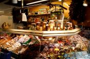 Travel photography:Delicatessen stall at the Bilbao food market, Spain