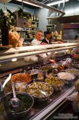 Travel photography:Stall at the Bilbao food market, Spain