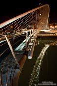 Travel photography:Bilbao Zubizuri Bridge by night, Spain