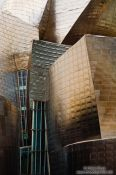 Travel photography:Facade detail of the Bilbao Guggenheim Museum, Spain