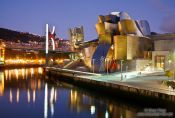 Travel photography:Bilbao Guggenheim Museum by night, Spain