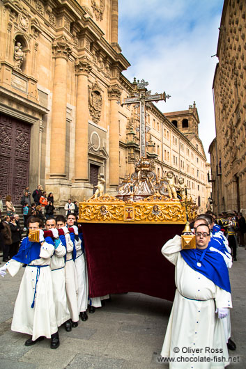 Religious procession during Semana Santa (Easter) in Salamanca