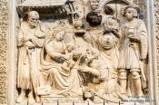 Travel photography:Avila Cathedral Relief, Spain