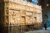Travel photography:Relief inside Avila Cathedral, Spain