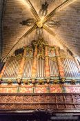 Travel photography:Main organ inside Avila Cathedral, Spain