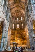 Travel photography:The main altar inside Avila Cathedral, Spain