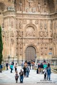 Travel photography:Facade of the Convento de San Esteban in Salamanca , Spain