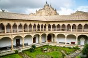 Travel photography:The Convento de las Dueñas in Salamanca with the cathedral in the background, Spain