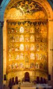 Travel photography:Main altar in Salamanca´s old cathedral, Spain