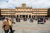 Travel photography:The Plaza Mayor (main square) in Salamanca, Spain