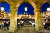Travel photography:The Plaza Mayor in Salamanca by night, Spain