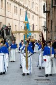 Travel photography:Religious procession during Semana Santa (Easter) in Salamanca, Spain