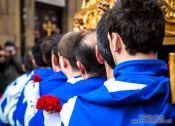 Travel photography:Religious procession during the Easter week in Salamanca, Spain