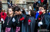 Travel photography:Religious procession during the Semana Santa in Salamanca, Spain