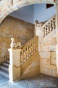Travel photography:Staircase inside the Casa de las Conchas in Salamanca, Spain
