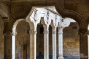 Travel photography:Interiour patio of the Casa de las Conchas in Salamanca, Spain