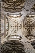 Travel photography:Ceiling of the New Cathedral in Salamanca, Spain