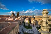 Travel photography:View over Salamanca from the Cathedral, Spain