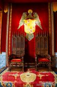 Travel photography:Royal throne inside the Alcazar in Segovia, Spain