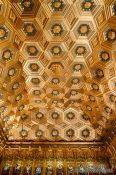 Travel photography:Ornate ceiling in the Alcazar castle in Segovia, Spain