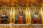 Travel photography:Sculptures of former kings decorate the old meeting room at the Alcazar castle in Segovia, Spain