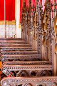 Travel photography:Wooden chairs in the Alcazar castle in Segovia, Spain