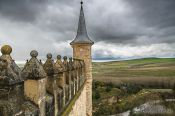 Travel photography:View from the battlements of the Alcazar castle in Segovia, Spain