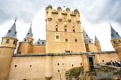 Travel photography:The Alcazar Castle in Segovia, Spain