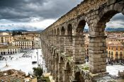 Travel photography:The Roman Aqueduct in Segovia, Spain