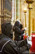 Travel photography:Guards inside Segovia cathedral, Spain