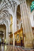 Travel photography:Inside Segovia cathedral, Spain