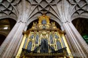 Travel photography:Main organ inside Segovia cathedral, Spain
