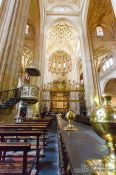 Travel photography:Interiour of Segovia cathedral, Spain
