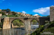 Travel photography:The Bajada San Martin in Toledo with Tajo river, Spain