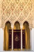 Travel photography:Window in El Transito Synagogue in Toledo , Spain