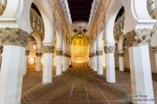 Travel photography:Arches inside the Santa Maria la Blanca synagogue in Toledo, Spain