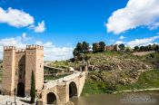 Travel photography:Bridge across the Tajo river in Toledo, Spain