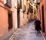 Travel photography:Medieval street in Toledo, Spain