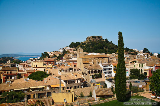 Panoramic view of Begur castle