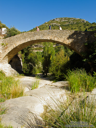 Old stone bridge at Cingles de Berti