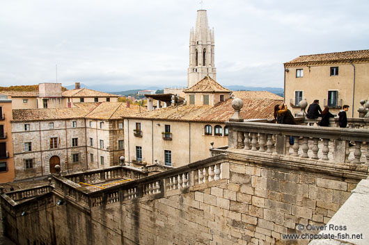 Girona`s historic old town