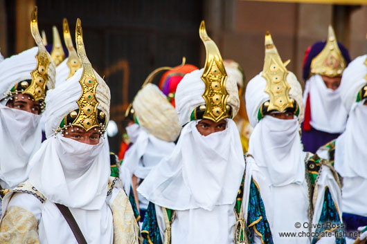 Procession for the Epiphany (Three Kings) celebrations in Sitges