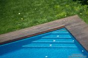 Travel photography:Swimming pool steps in Begur, Spain