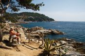 Travel photography:Coastline at Calella de Palafrugell, Spain