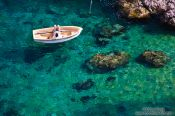 Travel photography:Tourist on the Costa Brava, Spain