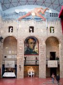 Travel photography:Main hall in the Figueres Dalí museum, Spain