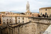 Travel photography:Girona`s historic old town, Spain