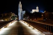 Travel photography:Girona cathedral by night, Spain
