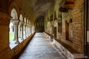 Travel photography:Cloister in Girona cathedral, Spain