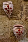 Travel photography:Flower pots decorate a house in Pals, Spain